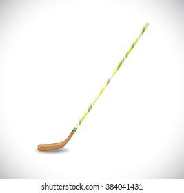 Isolated hockey stick.