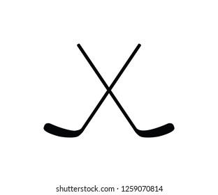 Isolated hockey stick ice sport equipment symbol