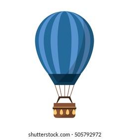 Isolated hot air balloon design