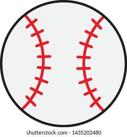 The isolated illustration of baseball