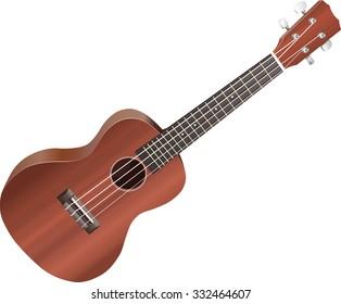 Isolated illustration of a ukulele on white background.