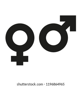 Isolated illustrations of male and female gender symbols