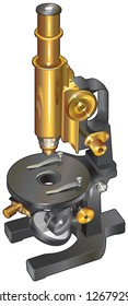 Isolated image of the microscope