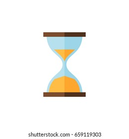 Isolated Instrument Flat Icon. Clock Vector Element Can Be Used For Instrument, Clock, Hourglass Design Concept.