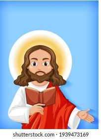 Isolated jesus cartoon character  illustration