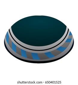 Isolated jewish kippah on a white background, Vector illustration