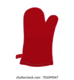 Isolated kitchen glove on a white background, Vector illustration