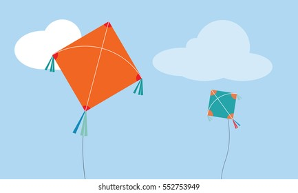 isolated kite, paper kite flying computation