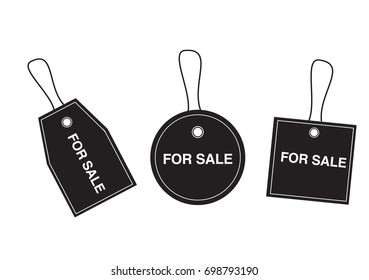 Isolated Label Sale Sign