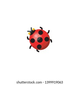 Isolated Lady Beetle Vector Icon, Pictogram