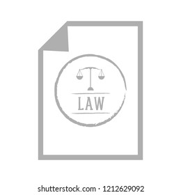 Isolated law paper with a balance icon. Vector illustration design