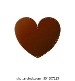 Isolated leather heart design