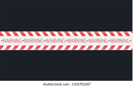 Isolated lines of insulation. Realistic warning tapes. Signs of danger. Vector illustration, isolated on a cellular background. Yellow color.