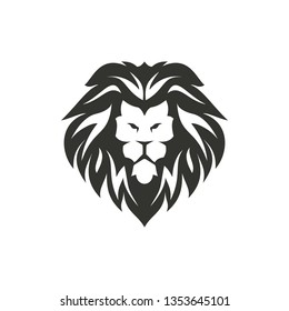 Isolated lion symbol on white background.