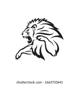 Isolated lion symbol - vector illustration