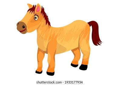 isolated little horse on white background vector design