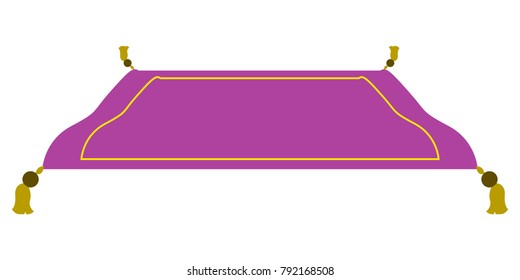 Isolated magic carpet on a white background, Vector illustration