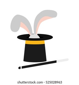 isolated magician hat icon vector illustration graphic design