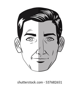 Isolated man cartoon design