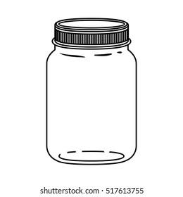 Isolated mason jar design