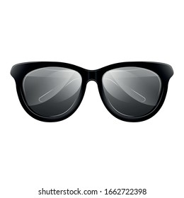 Isolated men glasses image over a white background - Vector