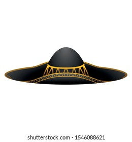 Isolated mexican mariachi hat image - Vector illustration