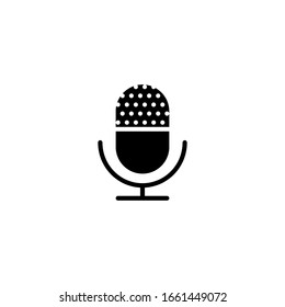 isolated microphone icon vector for any purposes