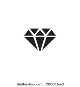 Isolated mineralogy icon symbol on clean background. Vector diamond element in trendy style.