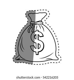 Isolated money bag icon vector illustration graphic design