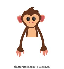 Isolated monkey cartoon design