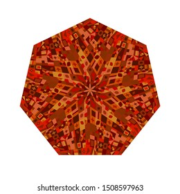 Isolated mosaic pattern heptagon shape - colorful ornamental vector design element from geometrical shapes