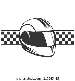 Isolated motorcycle sport helmet.