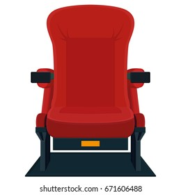 Isolated movie chair icon on a white background, vector illustration