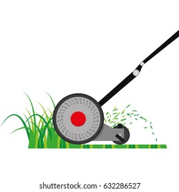 Isolated mower on a white background, Vector illustration