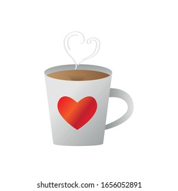 Isolated mug with a heart. Valentines day - Vector illustration