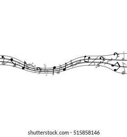 Isolated music note design