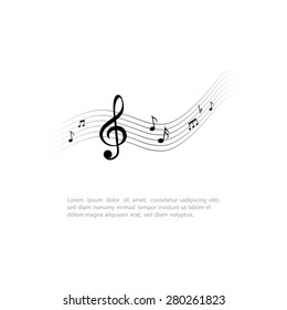 Isolated musical note on a white background. Vector illustration
