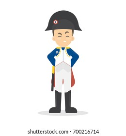 Isolated Napoleon Bonaparte on white background. Famous historic leader.