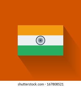 Isolated national flag of India. Flat design.