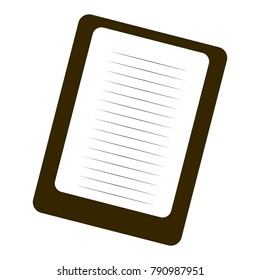 Isolated note paper on a white background, Vector illustration