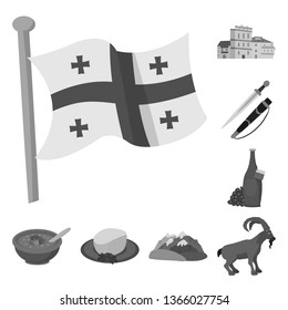 Isolated object of attributes and tourism icon. Set of attributes and national vector icon for stock.