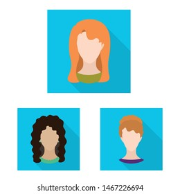 Isolated object of avatar and beauty school dummy symbol. Collection of avatar and figure vector icon for stock.
