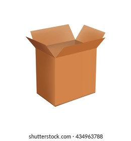Isolated object. Box. Packaging. Realistic object.