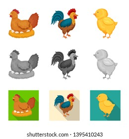 Isolated object of breeding and kitchen  icon. Set of breeding and organic  stock vector illustration.