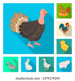 Isolated object of breeding and kitchen  logo. Collection of breeding and organic  vector icon for stock.