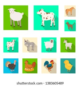 Isolated object of breeding and kitchen  logo. Set of breeding and organic  stock vector illustration.