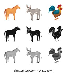 Isolated object of breeding and kitchen symbol. Collection of breeding and organic vector icon for stock.