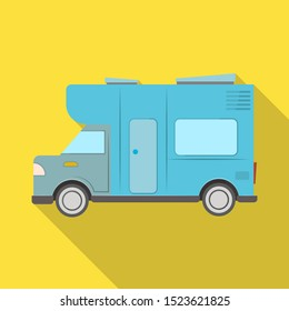 Isolated object of bus and motorhome icon. Web element of bus and vintage stock symbol for web.