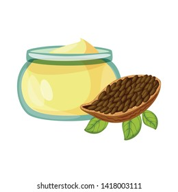 Isolated object of cacao and butter icon. Collection of cacao and nougat  stock vector illustration.