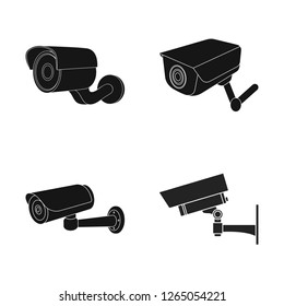 Isolated object of camcorder and camera sign. Set of camcorder and dashboard stock vector illustration.